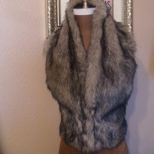 Faux Fur Halter Reversible Vest